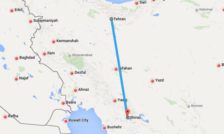 بلیط چارتر تهران به شیراز