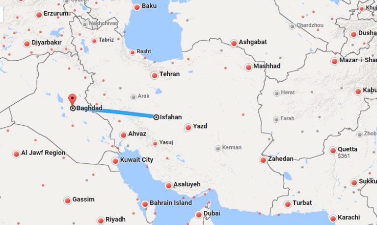 بلیط چارتر اصفهان بغداد