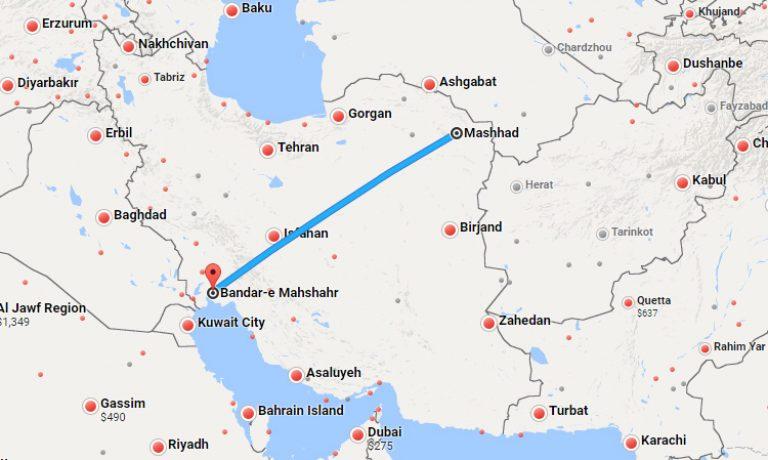 بلیط چارتر مشهد ماهشهر