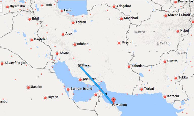 بلیط چارتر شیراز مسقط